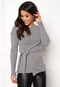 Happy Holly Elizabella sweater Dark grey melange Bubbleroom.fi