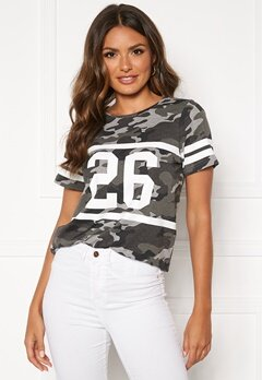 Happy Holly Ellen tee Grey melange / Camouflage Bubbleroom.fi