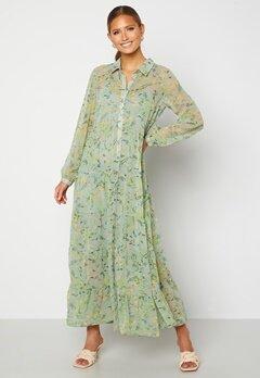Happy Holly Elsie Maxi Dress  Green / Floral Bubbleroom.fi