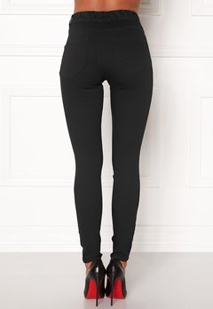 Happy Holly Elwira jeggings Black denim Bubbleroom.fi