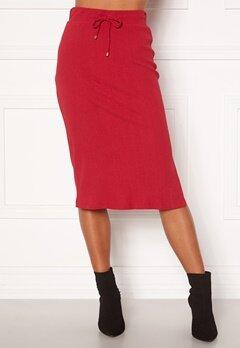 Happy Holly Emilia midi skirt Dark red bubbleroom.fi