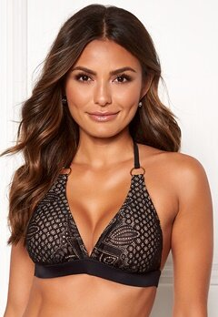 Happy Holly Emma lace bikini bra Black / Beige Bubbleroom.fi