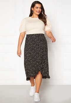 Happy Holly Emma skirt Black / Offwhite Bubbleroom.fi