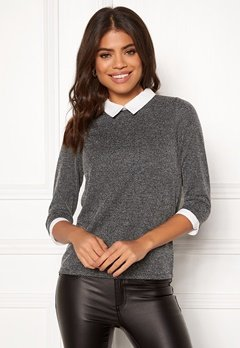 Happy Holly Emmie top Dark grey melange Bubbleroom.fi