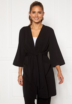Happy Holly Estelle long kimono Black Bubbleroom.fi