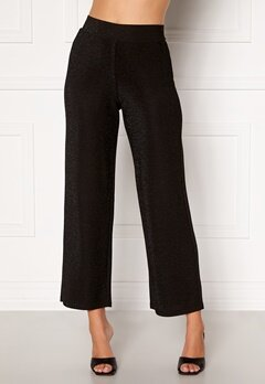 Happy Holly Estelle lurex pants Black Bubbleroom.fi