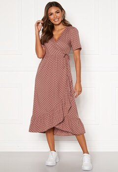 Happy Holly Evie wrap dress Dusty pink / Dotted Bubbleroom.fi