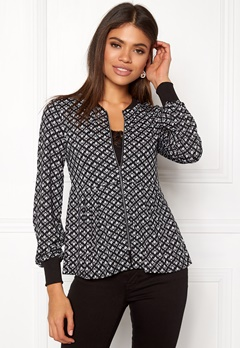 Happy Holly Fannie jacket Black / Offwhite Bubbleroom.fi