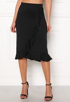 Happy Holly Farah midi skirt Black Bubbleroom.fi