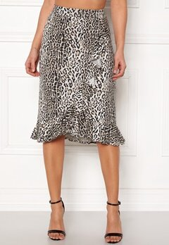 Happy Holly Farah midi skirt Leopard Bubbleroom.fi