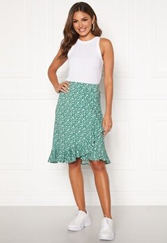 Happy Holly Farah skirt Green / Patterned Bubbleroom.fi