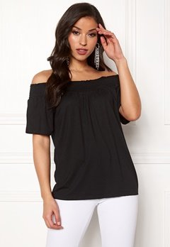 Happy Holly Farah top Black Bubbleroom.fi