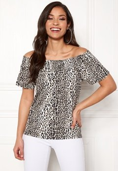 Happy Holly Farah top Leopard Bubbleroom.fi