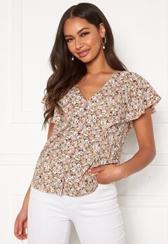 Happy Holly Fiona blouse Light pink / Patterned Bubbleroom.fi