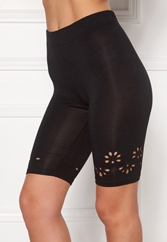 Happy Holly Flora Bike pants Black Bubbleroom.fi