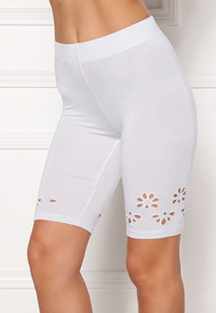 Happy Holly Flora Bike pants White Bubbleroom.fi