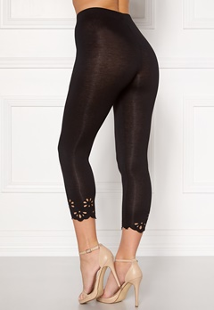 Happy Holly Flora Crop leggings Black Bubbleroom.fi