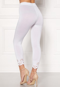Happy Holly Flora Crop leggings White Bubbleroom.fi