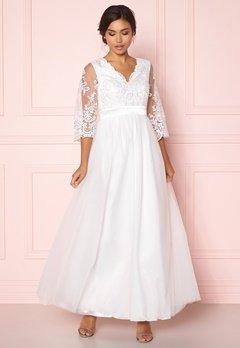 Happy Holly Francesca wedding dress White Bubbleroom.fi