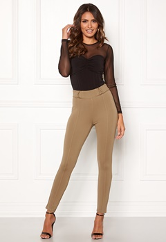 Happy Holly Franny tricot pants Camel Bubbleroom.fi