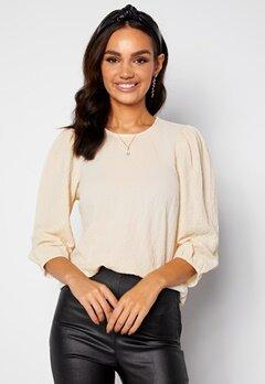 Happy Holly Fredrika puff sleeve blouse Winter white bubbleroom.fi