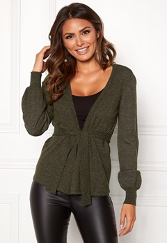 Happy Holly Freja cardigan Dark green / Melange Bubbleroom.fi