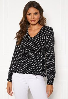 Happy Holly Frida blouse Black / Dotted Bubbleroom.fi