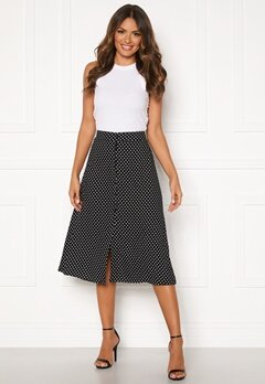 Happy Holly Frida button skirt Black / Dotted Bubbleroom.fi