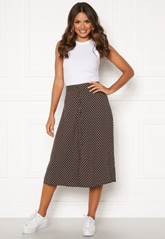 Happy Holly Frida button skirt Brown / Dotted Bubbleroom.fi