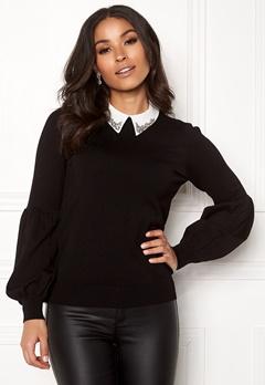 Happy Holly Gaby sweater Black Bubbleroom.fi