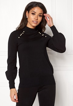 Happy Holly Genette sweater Black Bubbleroom.fi
