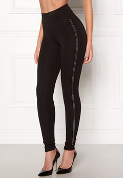 Happy Holly Gianna diamond leggings Black Bubbleroom.fi