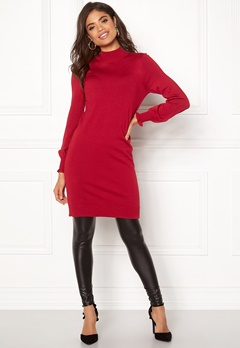 Happy Holly Haddie sweater dress Red Bubbleroom.fi