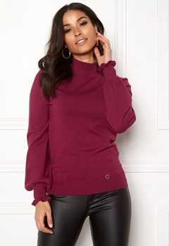 Happy Holly Haddie sweater Wine-red Bubbleroom.fi