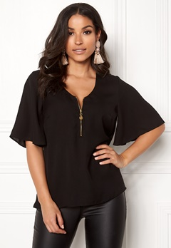 Happy Holly Hallie blouse Black Bubbleroom.fi