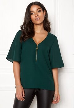 Happy Holly Hallie blouse Dark green Bubbleroom.fi