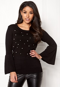 Happy Holly Hannie sweater Black Bubbleroom.fi