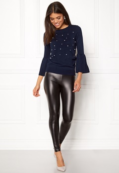 Happy Holly Hannie sweater Dark blue Bubbleroom.fi