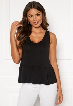 Happy Holly Harper frill singlet Black Bubbleroom.fi