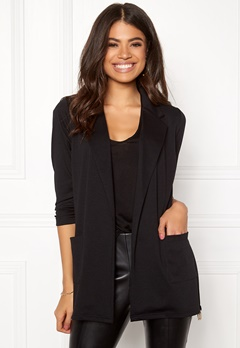 Happy Holly Hayley tricot blazer Black Bubbleroom.fi