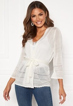 Happy Holly Ida knitted cardigan White Bubbleroom.fi