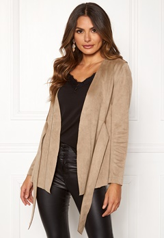 Happy Holly Ida suede look jacket Beige Bubbleroom.fi