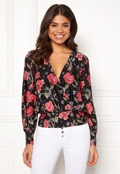 Happy Holly Ilana top Black / Patterned Bubbleroom.fi