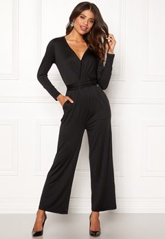 Happy Holly Iman ls jumpsuit Black Bubbleroom.fi
