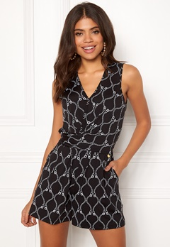 Happy Holly Iman playsuit Black / Patterned Bubbleroom.fi
