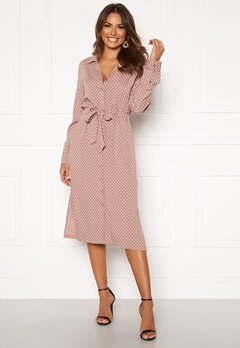 Happy Holly Iris Shirt dress Dusty pink / Dotted Bubbleroom.fi