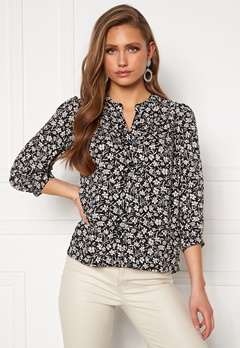 Happy Holly Isabella blouse Black / Patterned Bubbleroom.fi