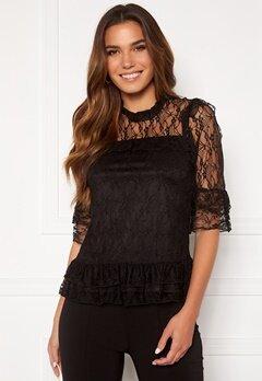Happy Holly Isabella lace top Black Bubbleroom.fi