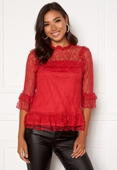 Happy Holly Isabella lace top Red Bubbleroom.fi