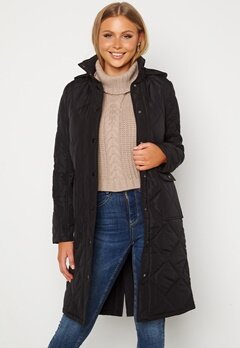 Happy Holly Isabelle Quilted Coat Black Bubbleroom.fi